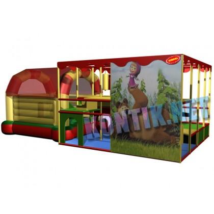 Игровая комната с батутом